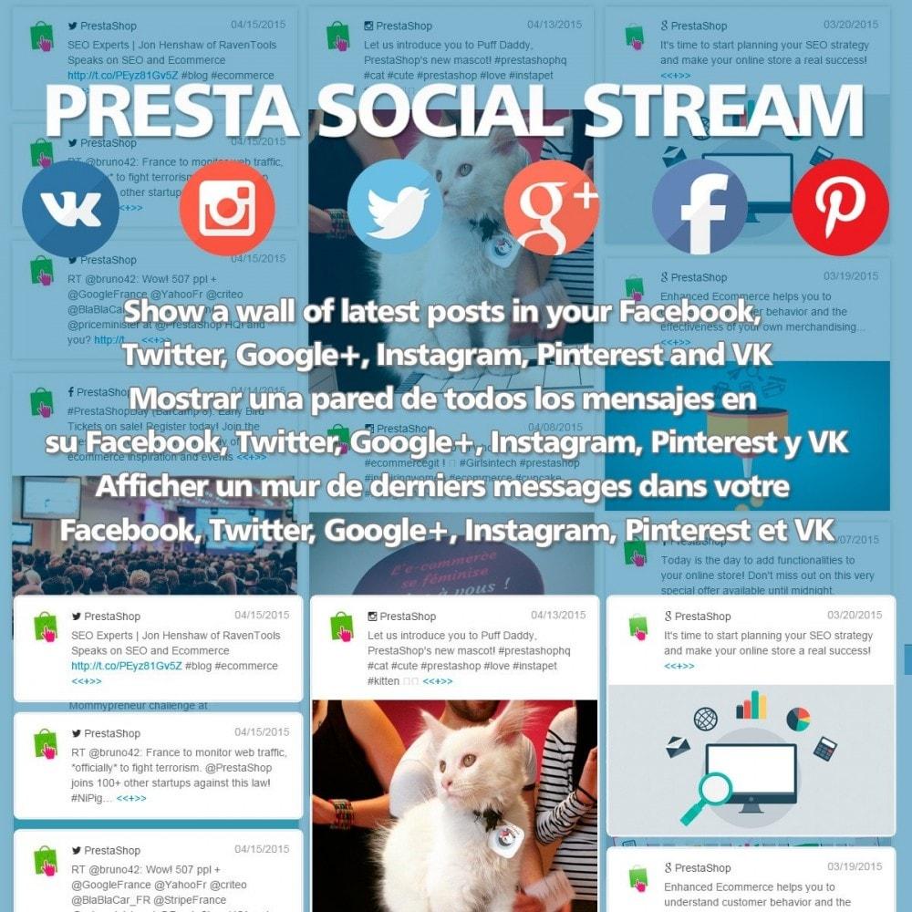 module - Widgets réseaux sociaux - Presta Social Stream - 1