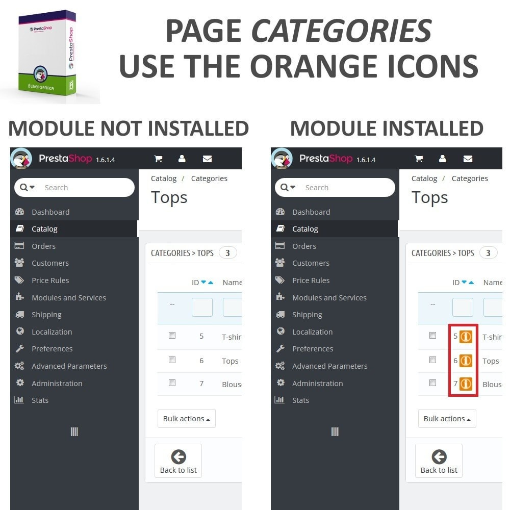 module - Modifica rapida & di massa - Fast Access to Category Details - Quick View / Overview - 2