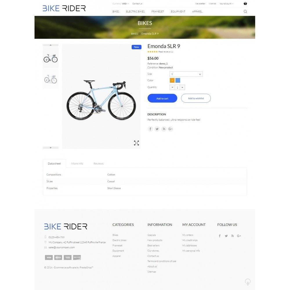 theme - Deportes, Actividades y Viajes - Bike Rider Shop - 8