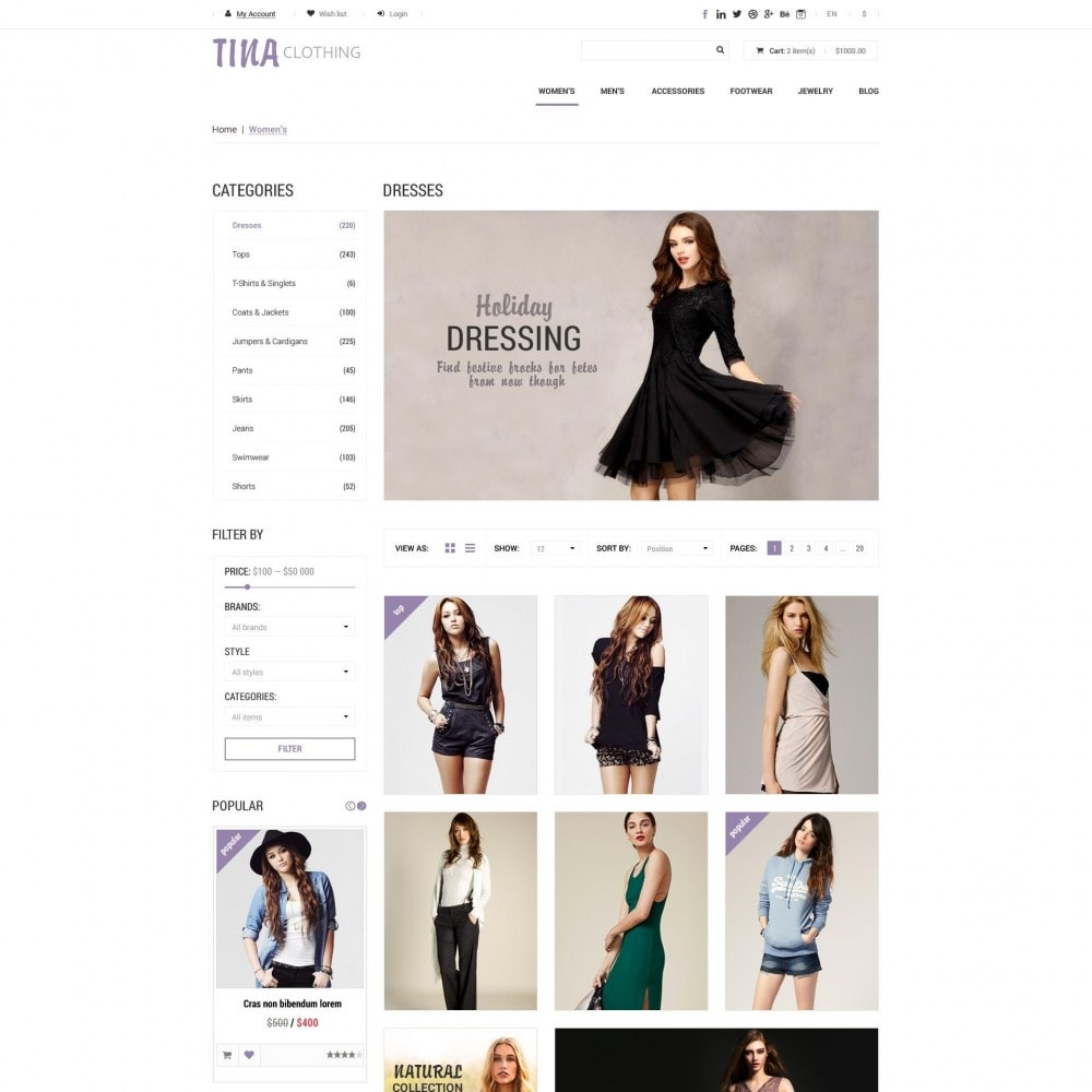 theme - Fashion & Shoes - Tina - Clothing Shop - 3