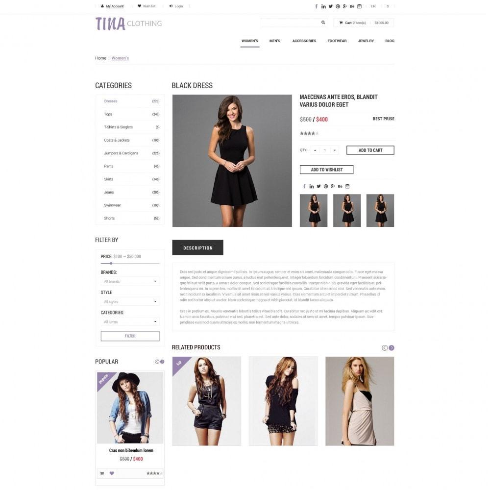 theme - Mode & Chaussures - Tina - Boutique de Vêtements - 4