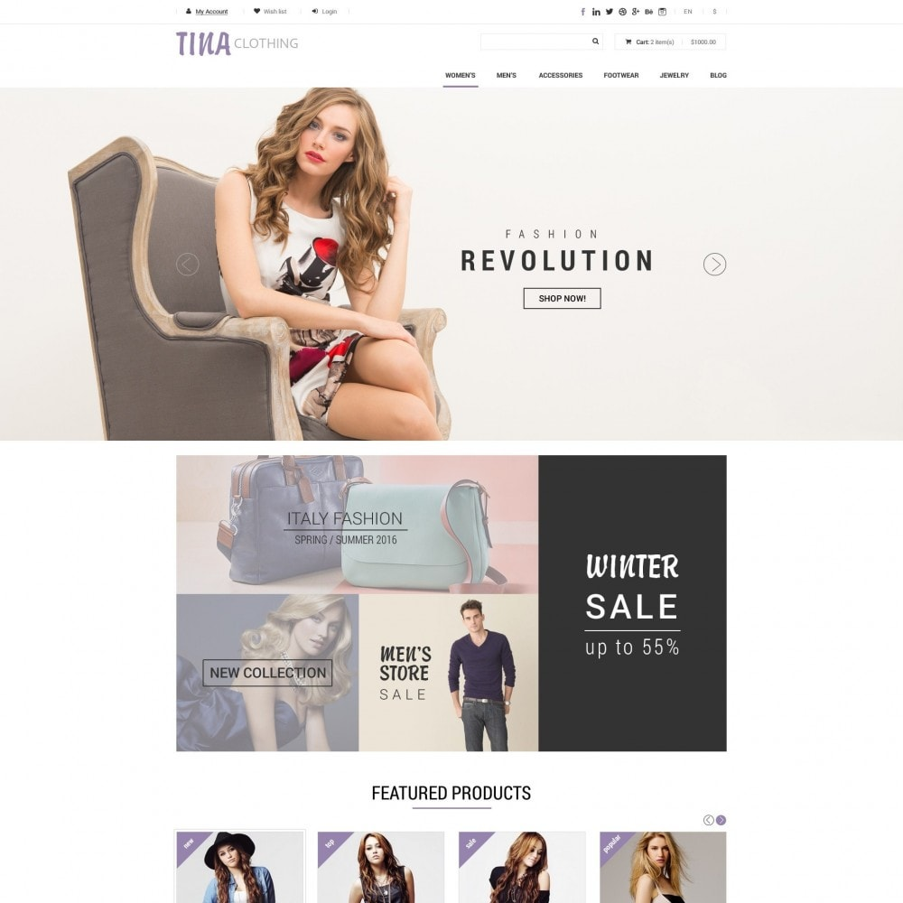 theme - Moda & Obuwie - Tina - Sklep z Ubraniami - 2