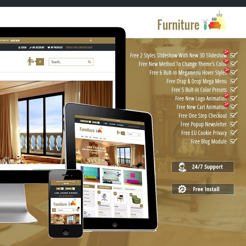 theme - Дом и сад - Furniture Interior Store - 1