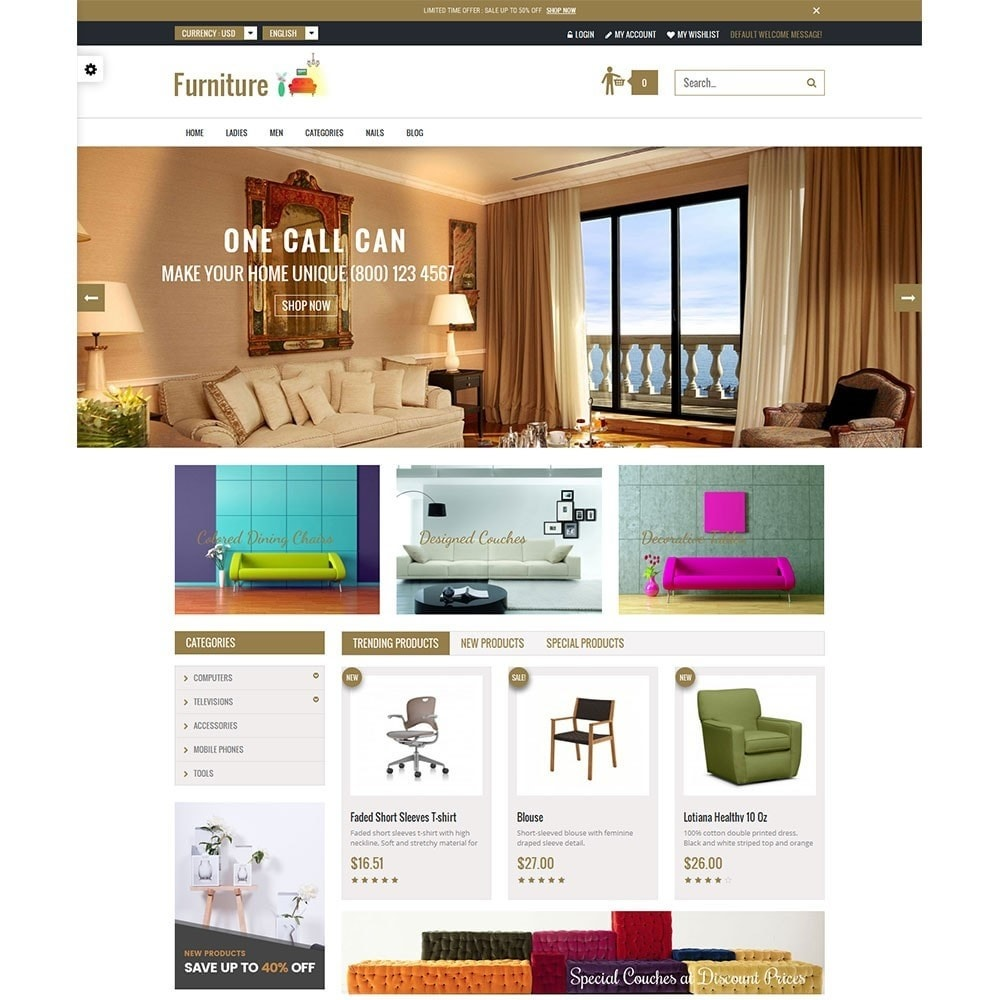 theme - Дом и сад - Furniture Interior Store - 2