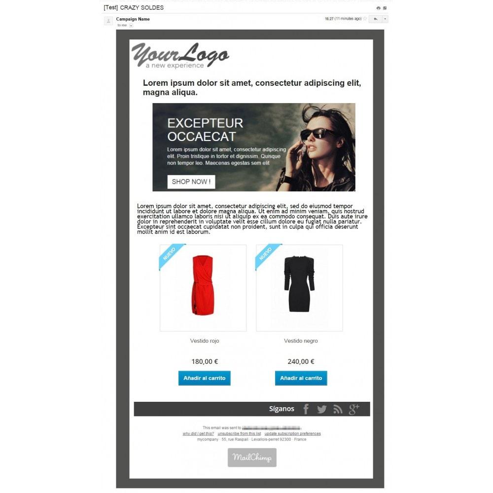 bundle - Nuestras ofertas actuales - ¡Aprovecha y ahorra! - Pack Ventas : Boletines de Mailchimp + Pop-ups promocionales + Etiquetas y pegatinas personalizables - 2