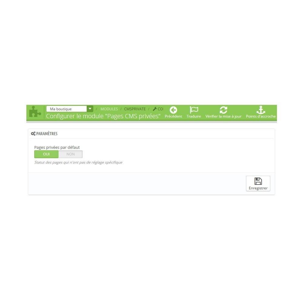 module - Personnalisation de Page - Pages CMS privées - 3