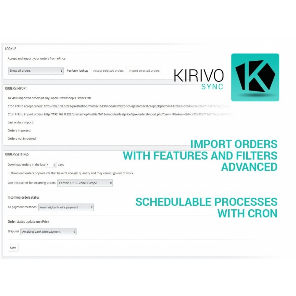 module - Marktplätze - Sync your PrestaShop store with Kirivo marketplace - 4