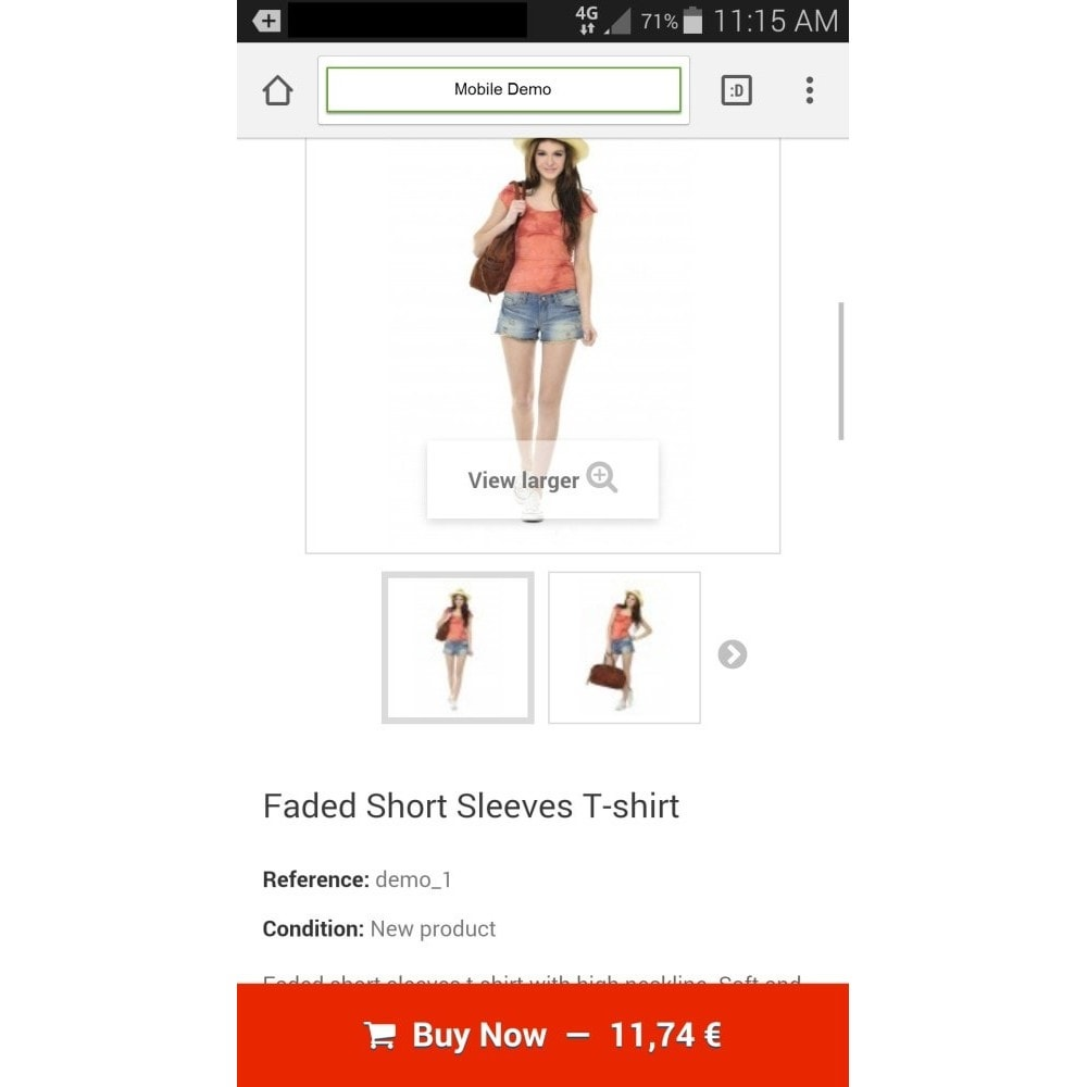 module - Dispositivos móviles - Sticky Add to Cart Button on Product Pages for Mobile - 4