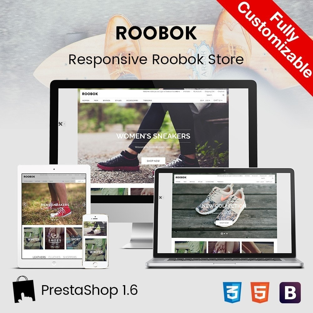 theme - Fashion & Shoes - Roobok | Fashion Sport Shoes Store - 1