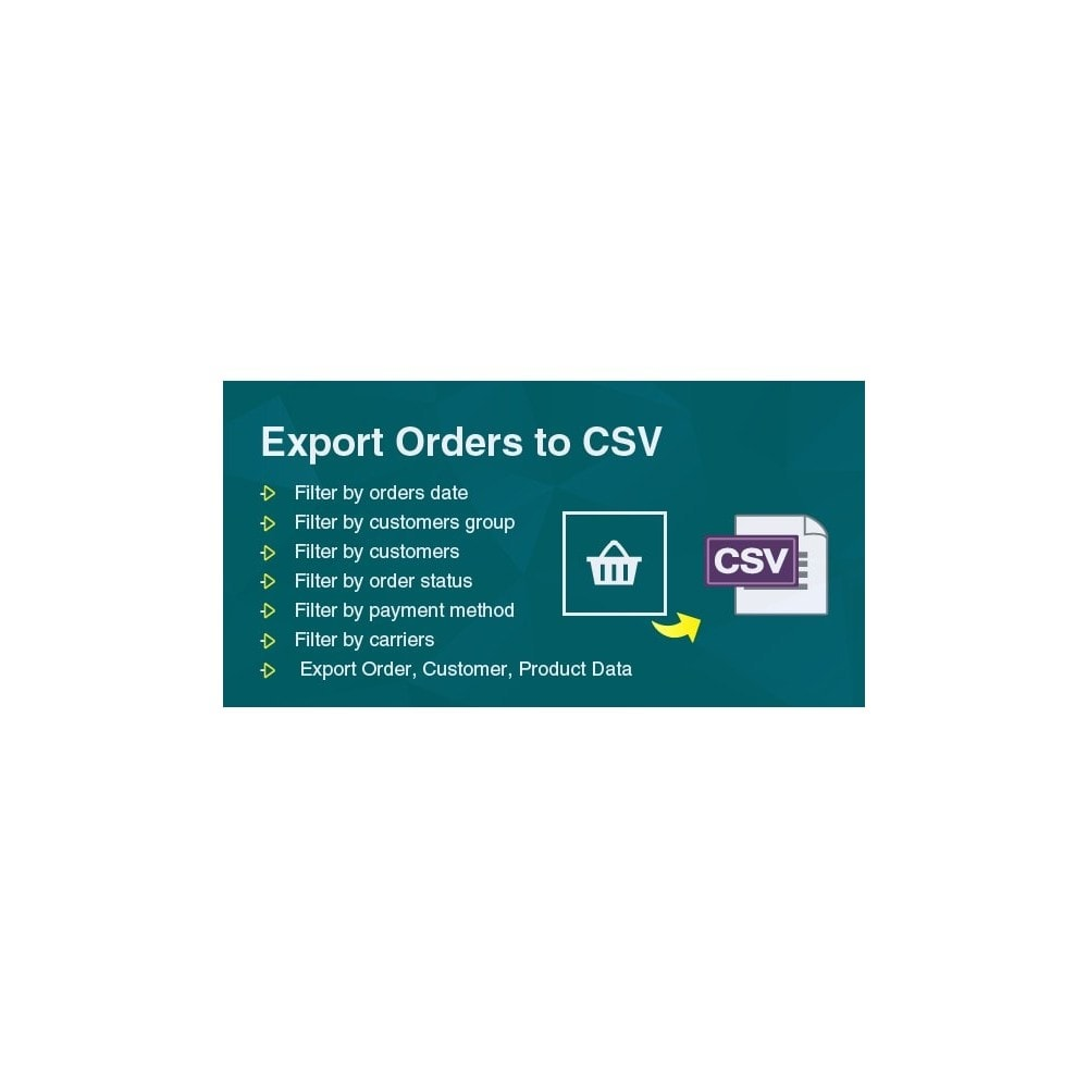 module - Data Import & Export - Filter & Export Bulk Orders to CSV/Exel File Pro - 1