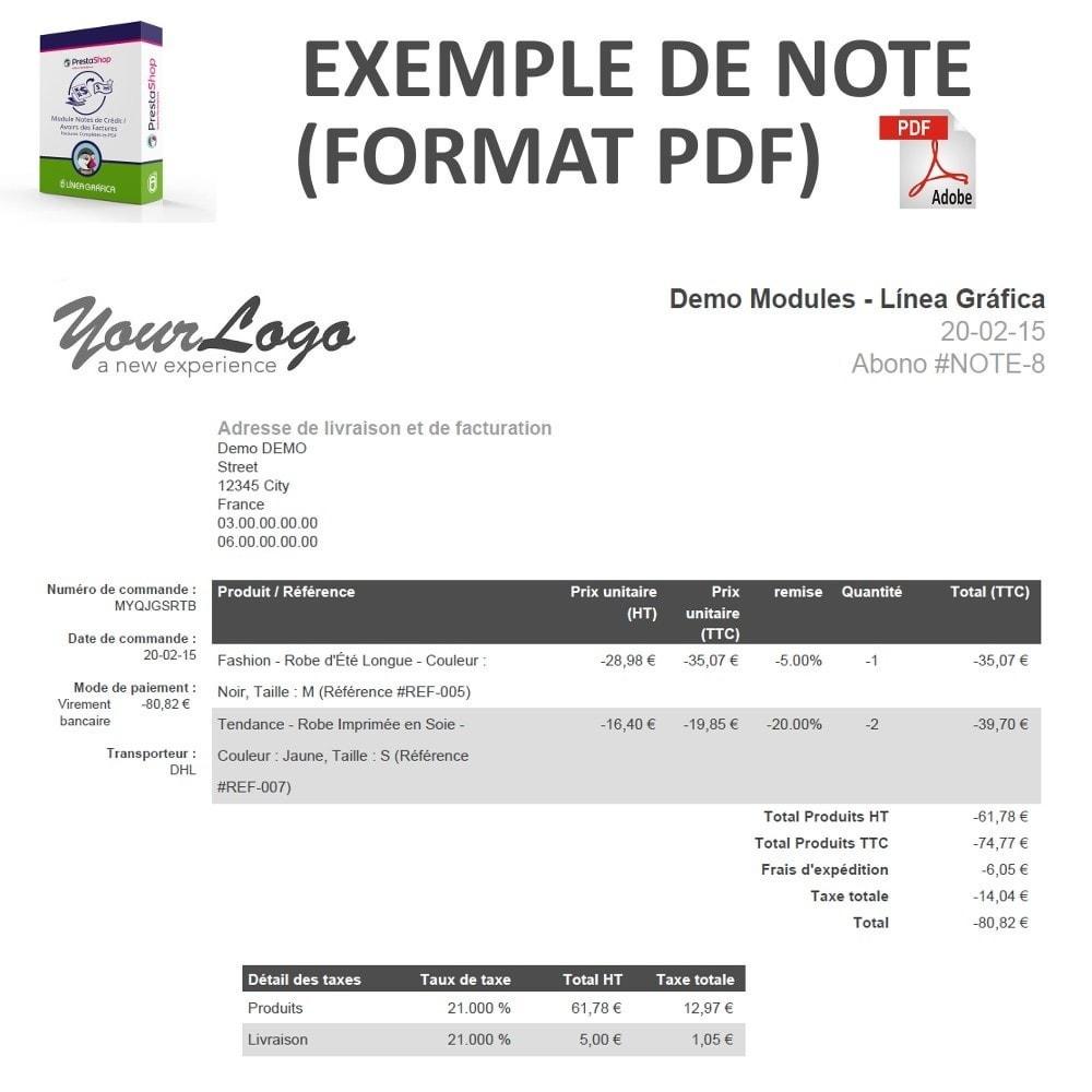Notes De Cr 233 Dit Avoirs Des Factures Compl 232 Tes En Pdf