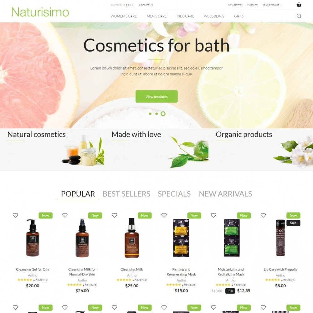 theme - Health & Beauty - Naturisimo - 2