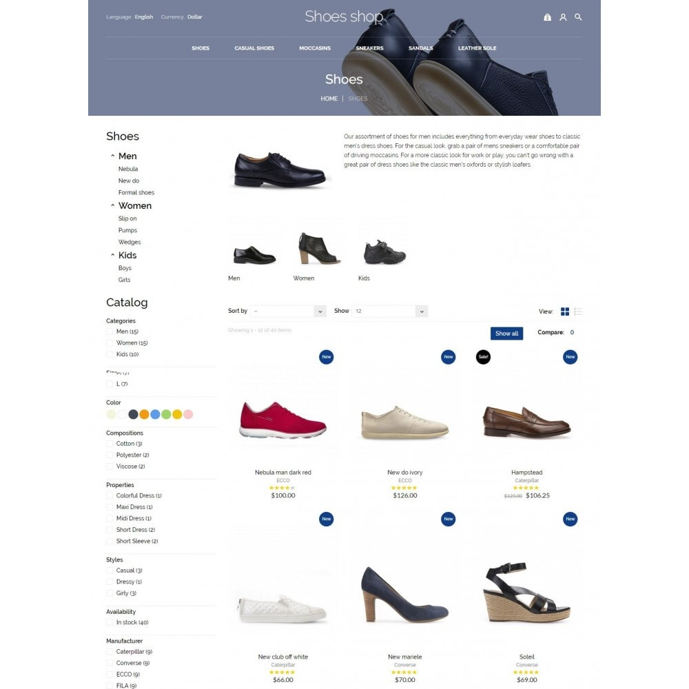 theme - Mode & Chaussures - Shoes shop - 6