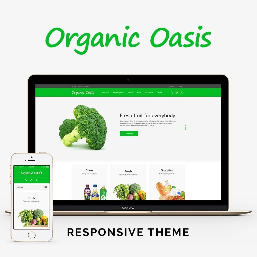 theme - Alimentation & Restauration - Organic Oasis Store - 1