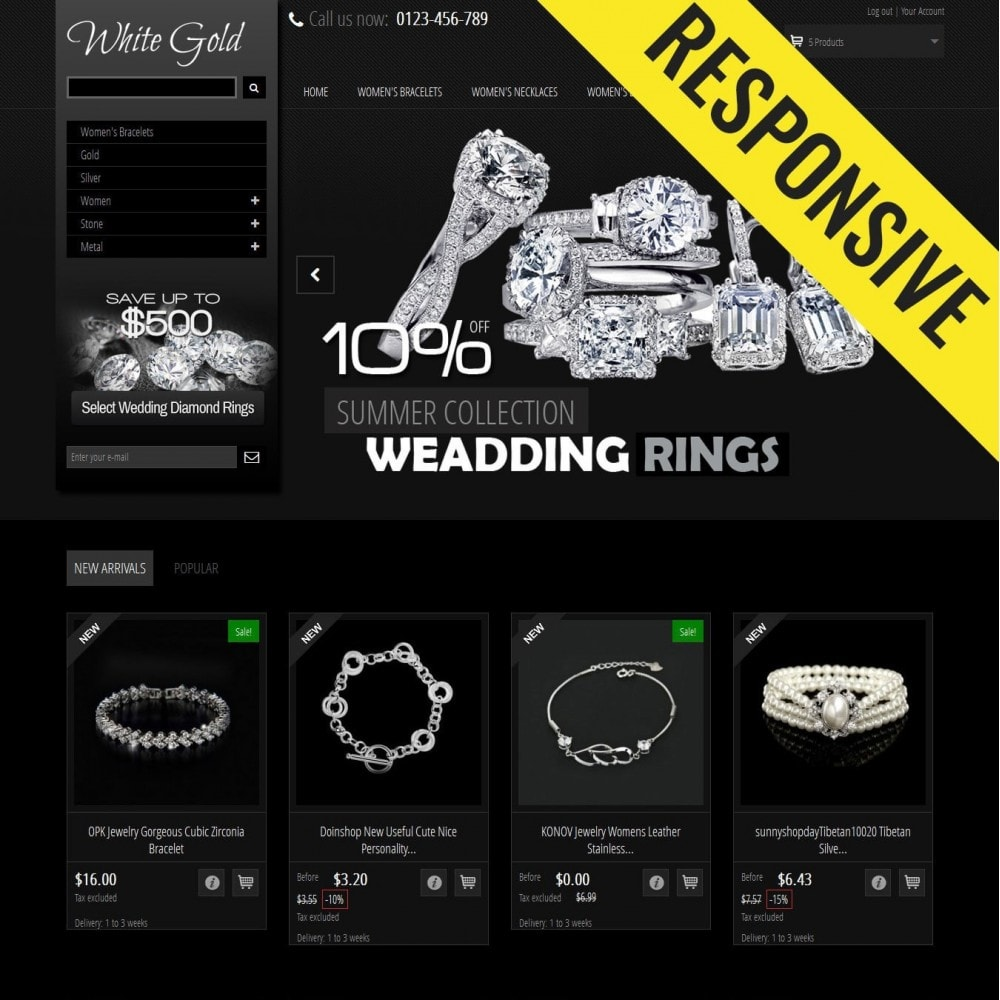 theme - Jewelry & Accessories - WhiteGold 2.5 - 1