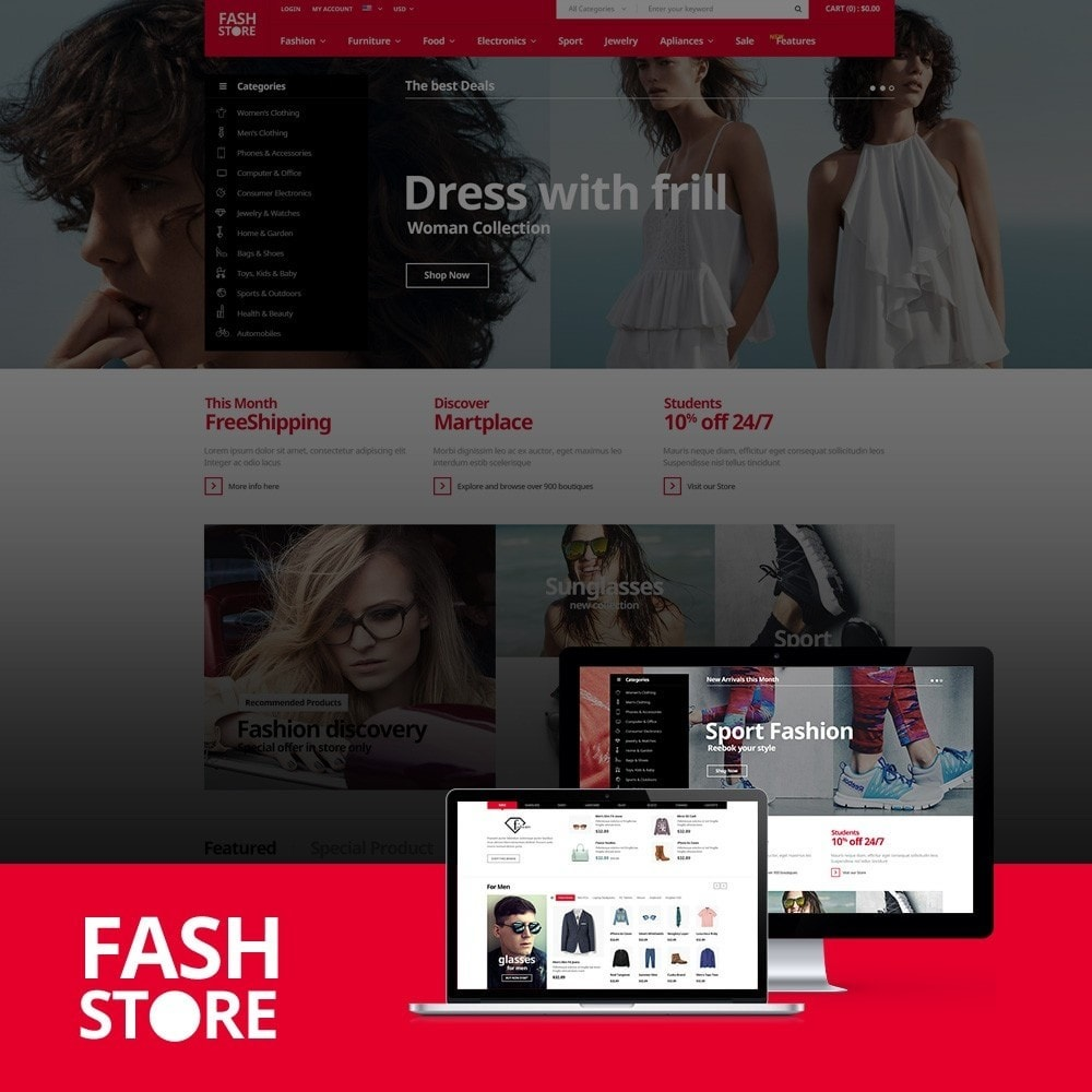theme - Mode & Schoenen - FashStore - Suppermarket - 1