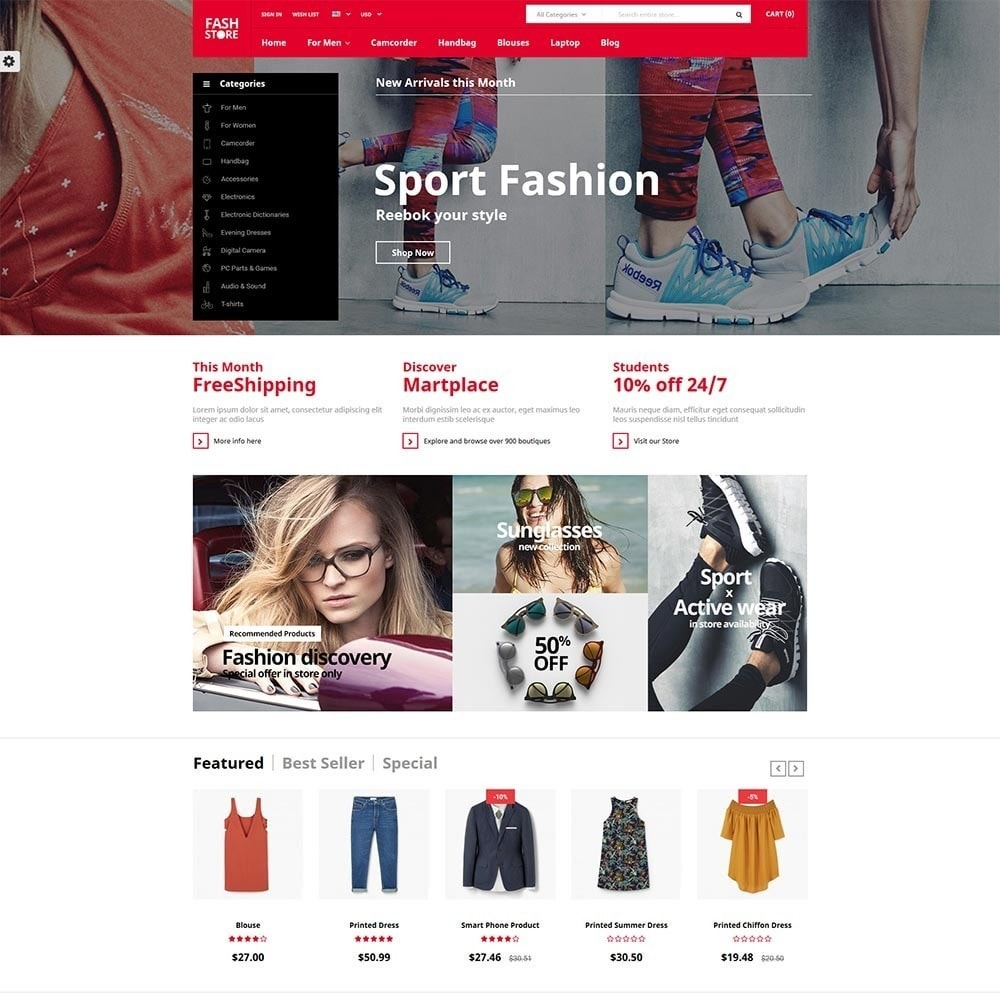theme - Mode & Chaussures - FashStore - Suppermarket - 2