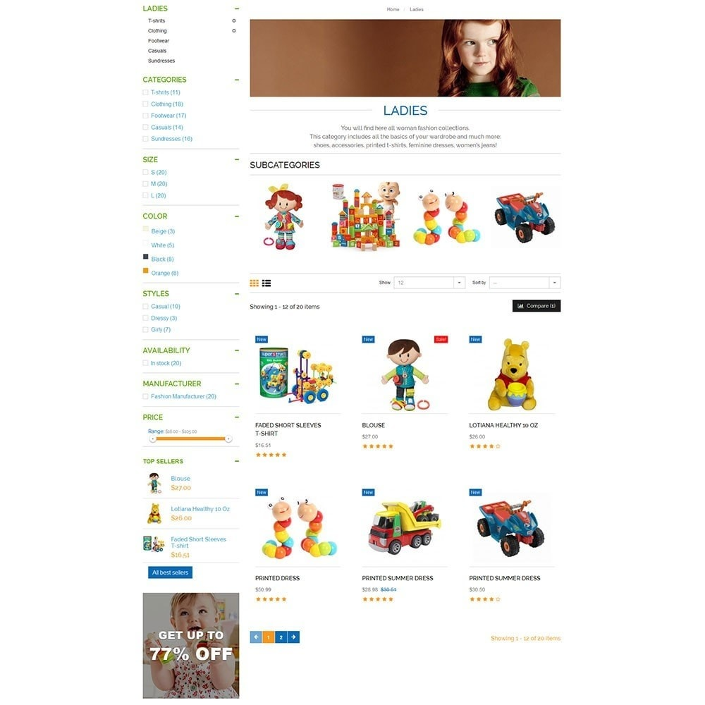 theme - Kids & Toys - Baby Kid Store - 4