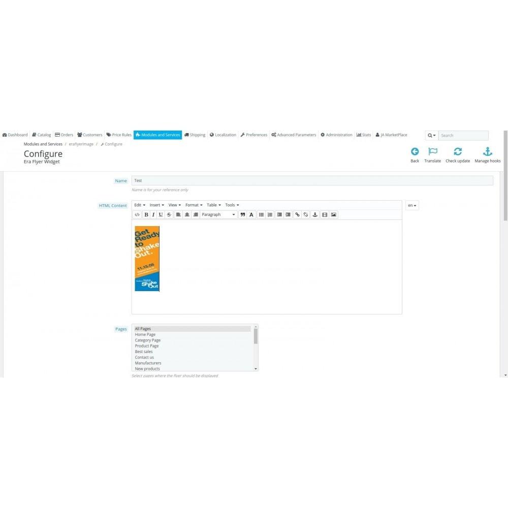 module - Personalización de la página - Era Flyer Widget - 2