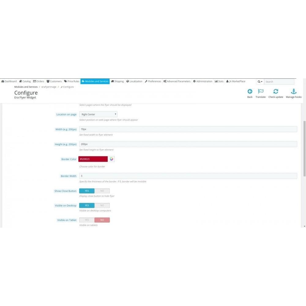 module - Personalización de la página - Era Flyer Widget - 3