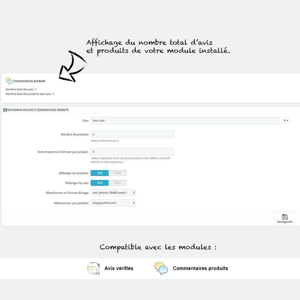 module - Sliders & Galeries - Diaporama des avis et commentaires produits - 3