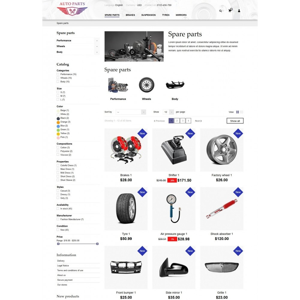theme - Carros & Motos - AutoParts Store - 8