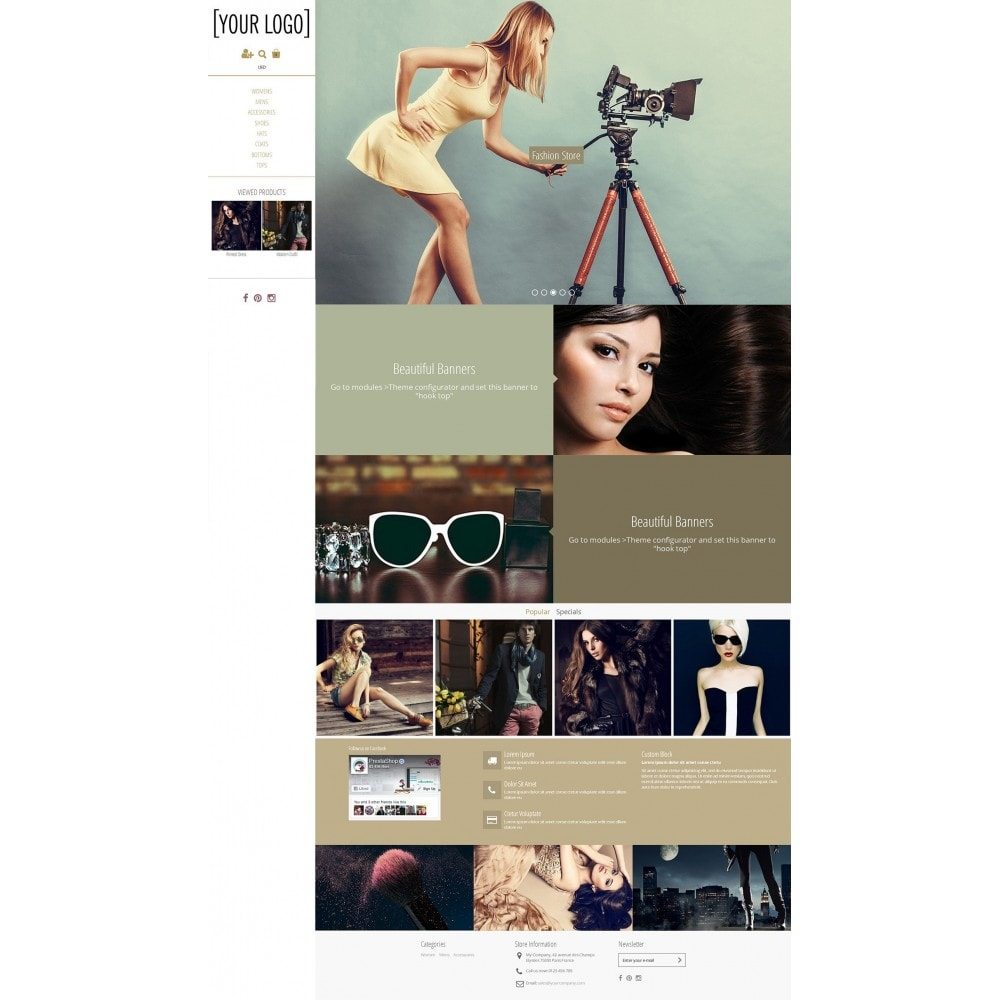 theme - Fashion & Shoes - Magnetic - Parallax Masonry Modern - 1