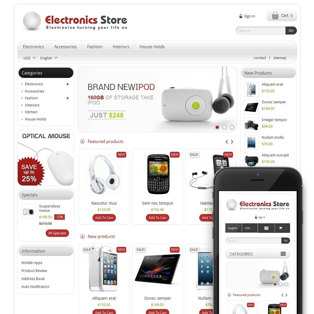theme - Elektronika & High Tech - TM Electronics & Computer Store - 1