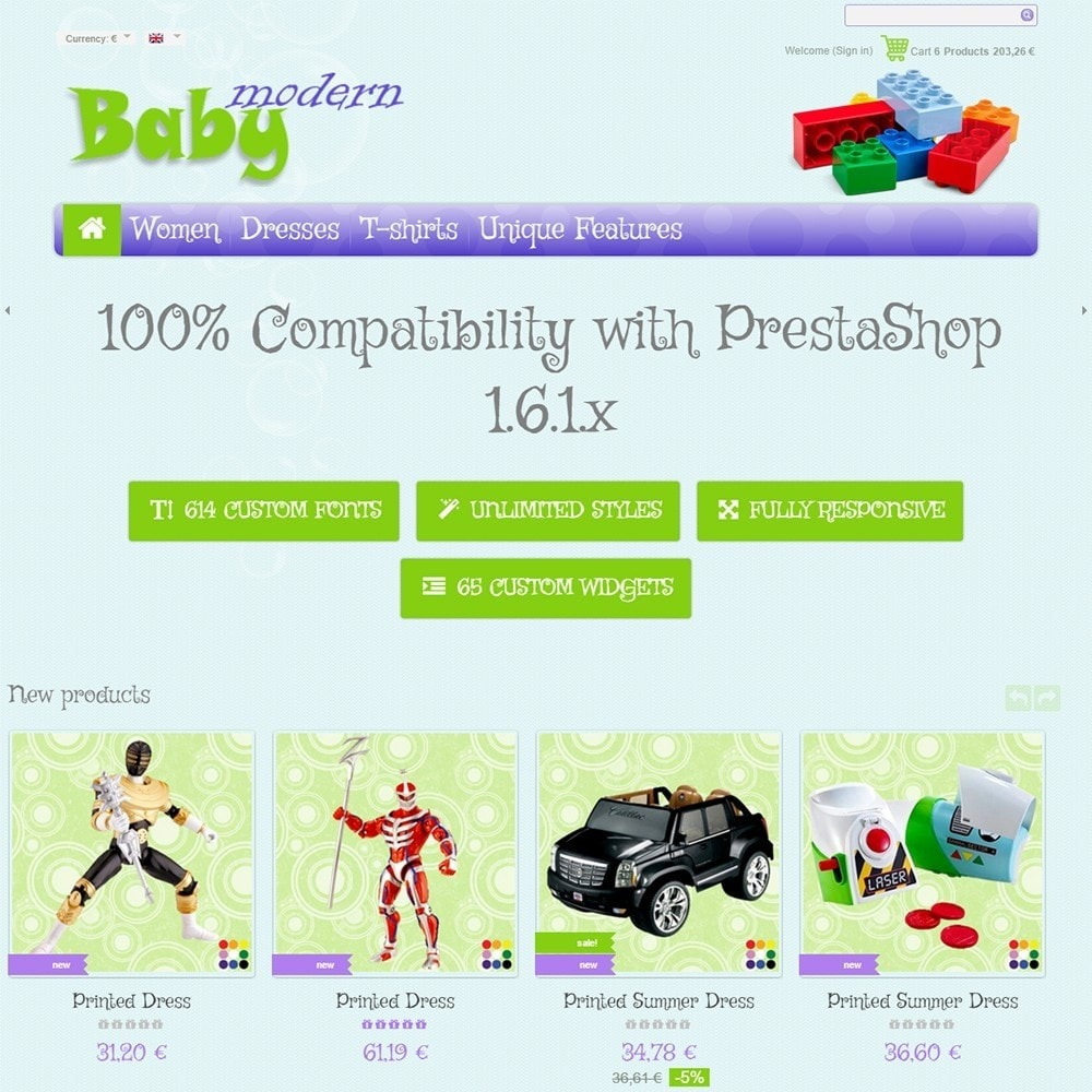 theme - Kids & Toys - Modern Baby - 2