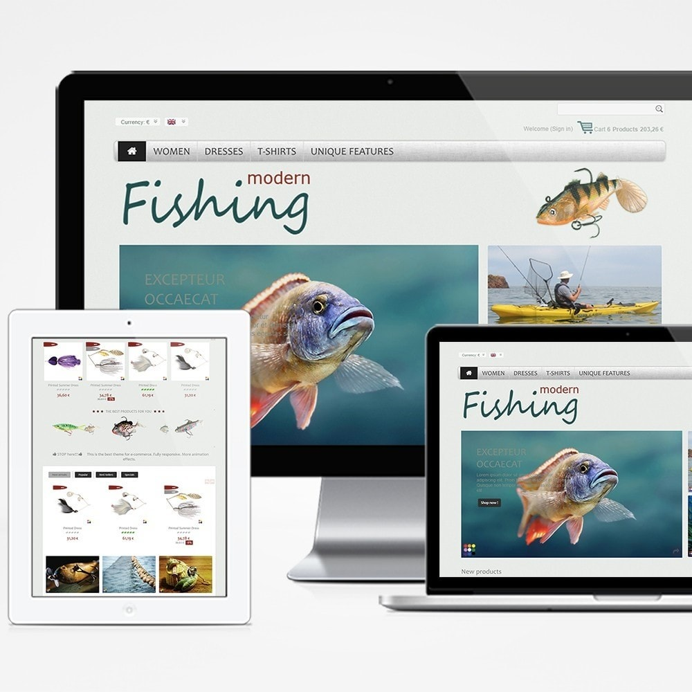 theme - Sports, Activities & Travel - Modern Fishing - 1