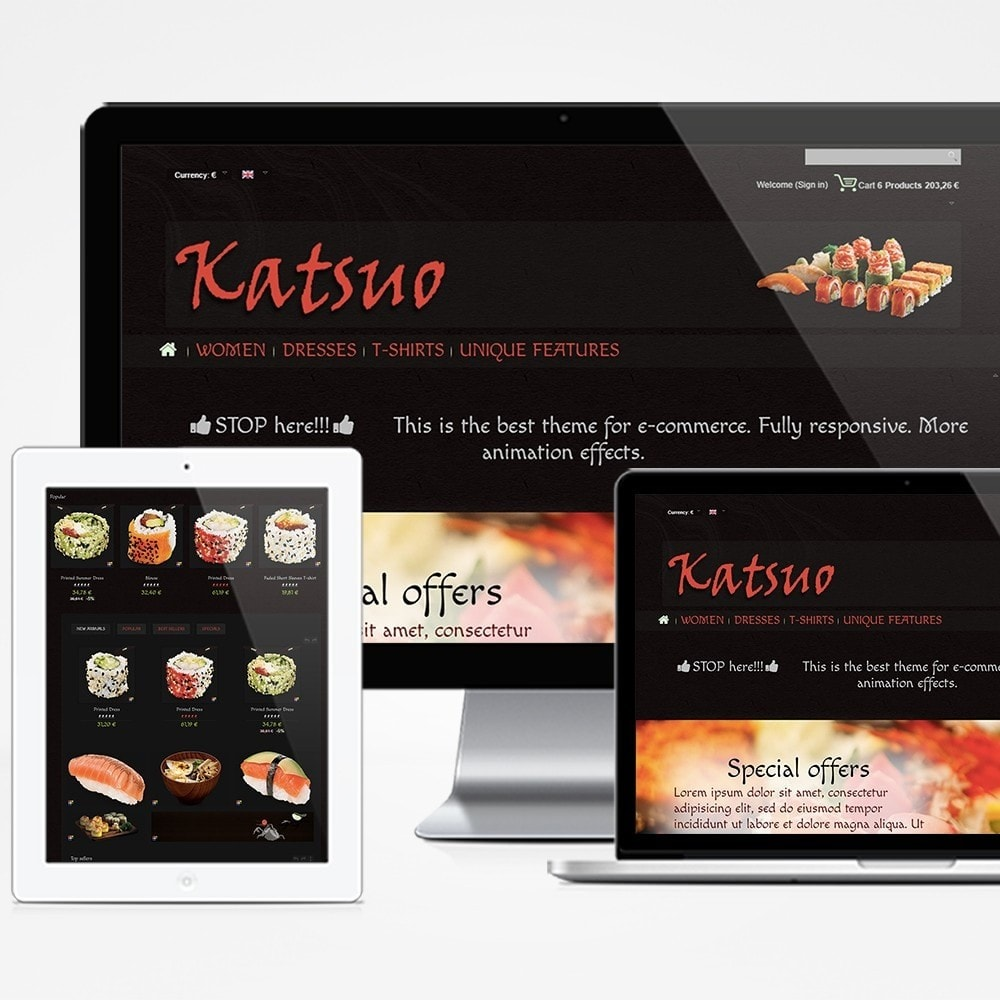 theme - Food & Restaurant - Katsuo - 1