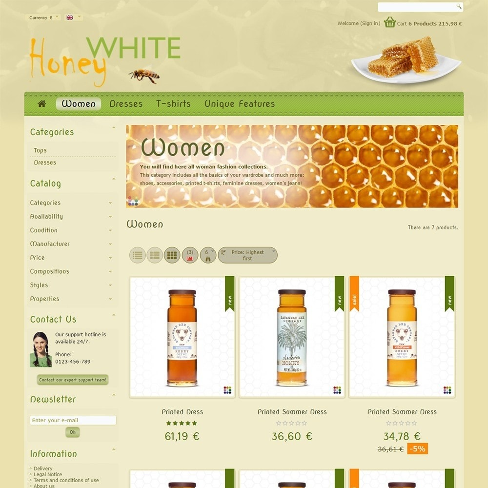 theme - Food & Restaurant - White Honey - 4