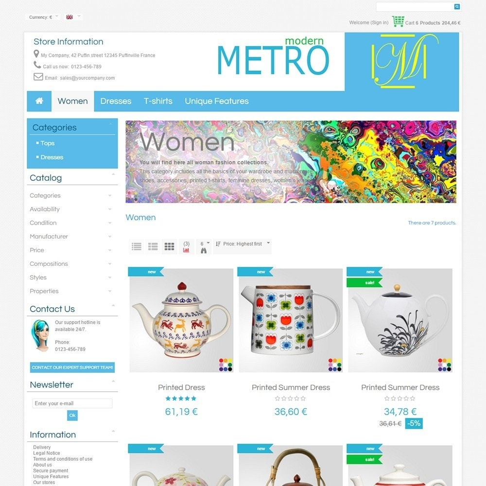 theme - Мода и обувь - Modern Metro - 4