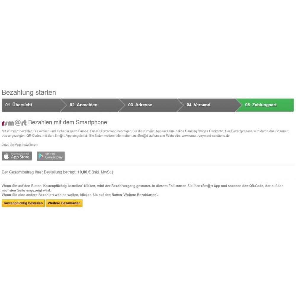 module - Zahlung per Kreditkarte oder Wallet - rSm@rt - Bezahlen mit dem Smartphone - 3