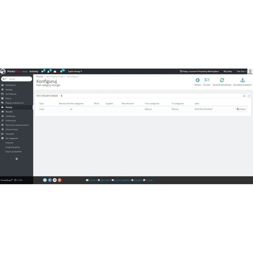 module - Szybkie & Masowe edytowanie - Szybka zmiana kategorii / masowa edycja kategorii - 4