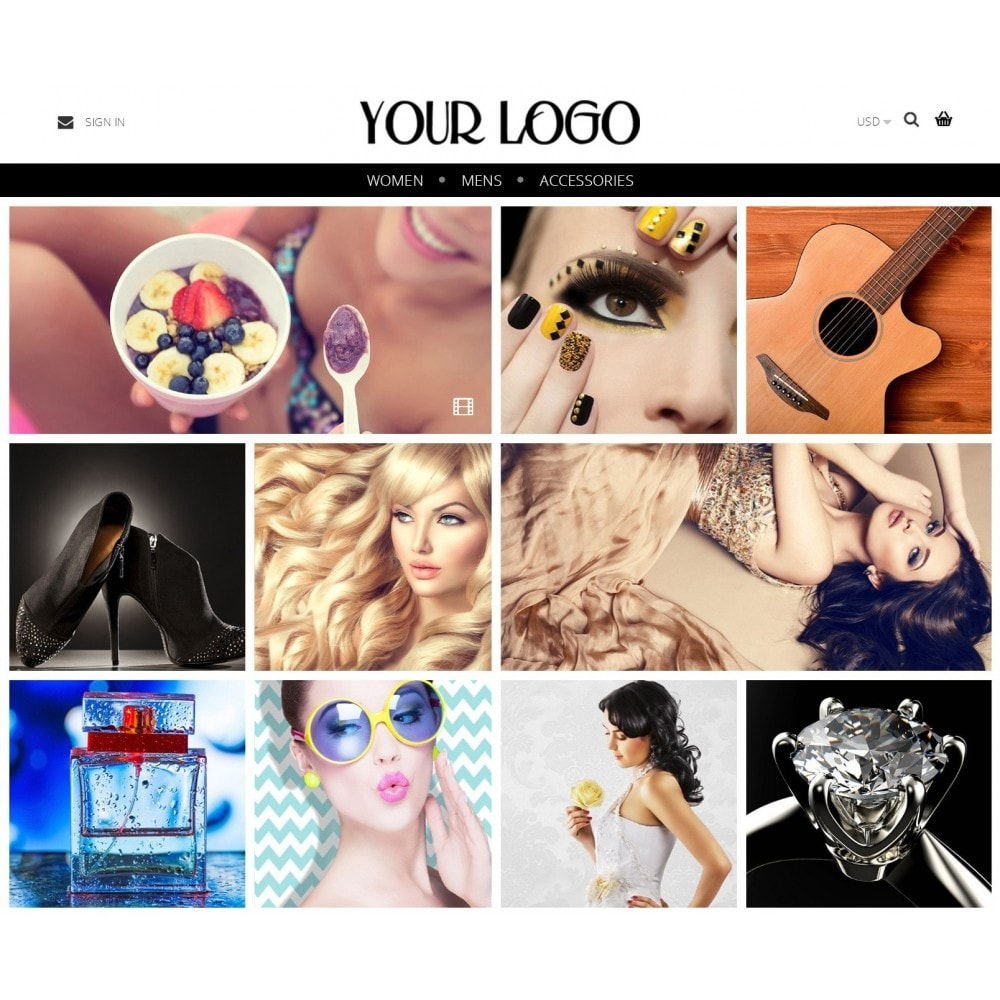 theme - Fashion & Shoes - Nimble Grid Theme - 1