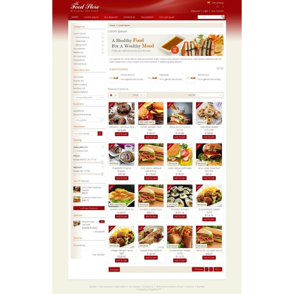 theme - Alimentos & Restaurantes - Fresh Food Store - 3