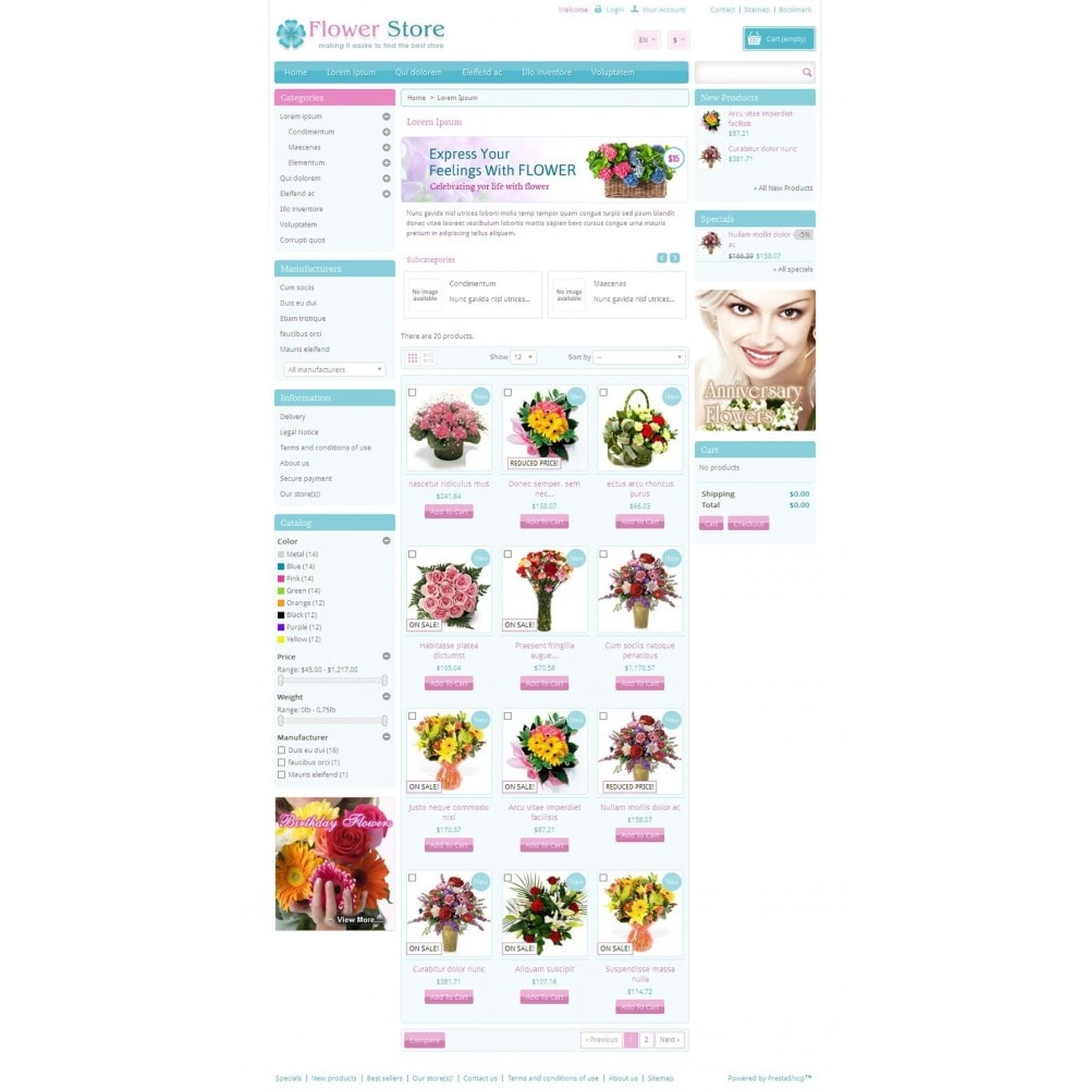theme - Gifts, Flowers & Celebrations - Pinky - Flower Store - 3