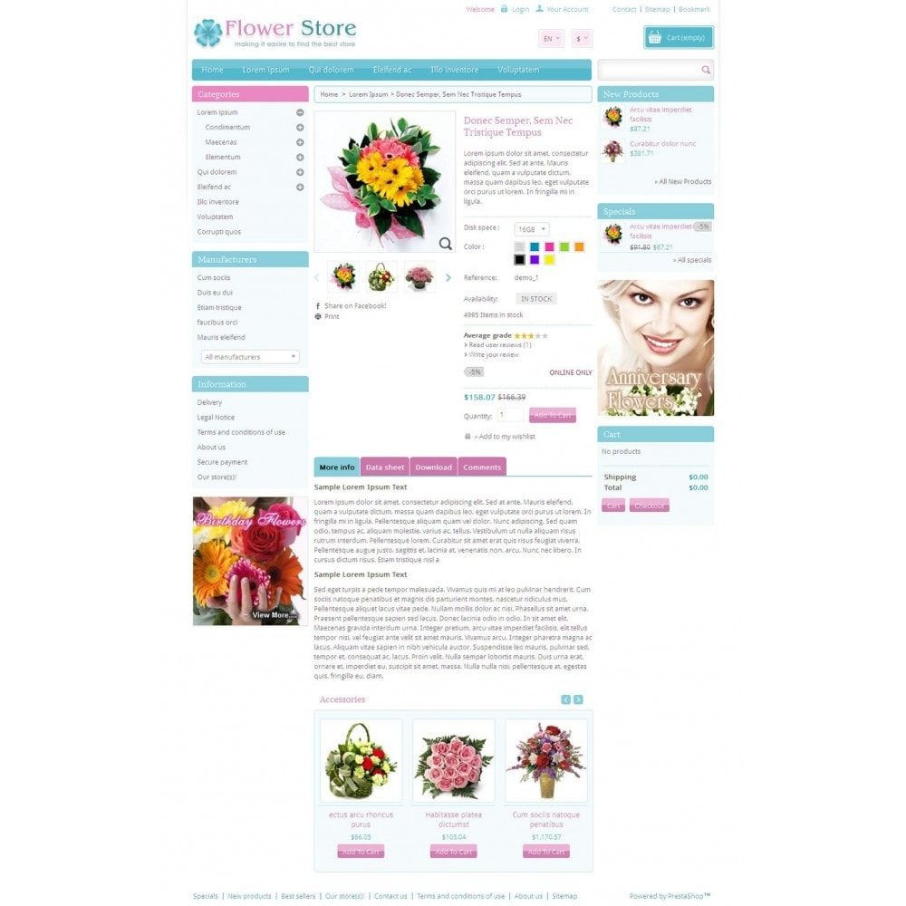 theme - Gifts, Flowers & Celebrations - Pinky - Flower Store - 4