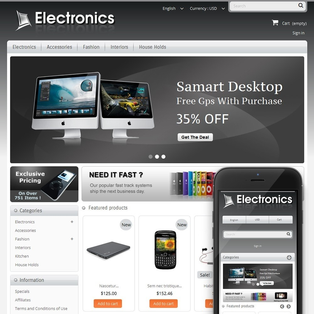 theme - Electronics & Computers - Electronics Mega Store - 1