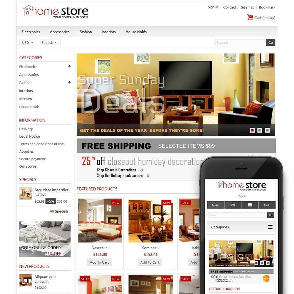 theme - Casa & Giardino - Home Furnitures Store - 1