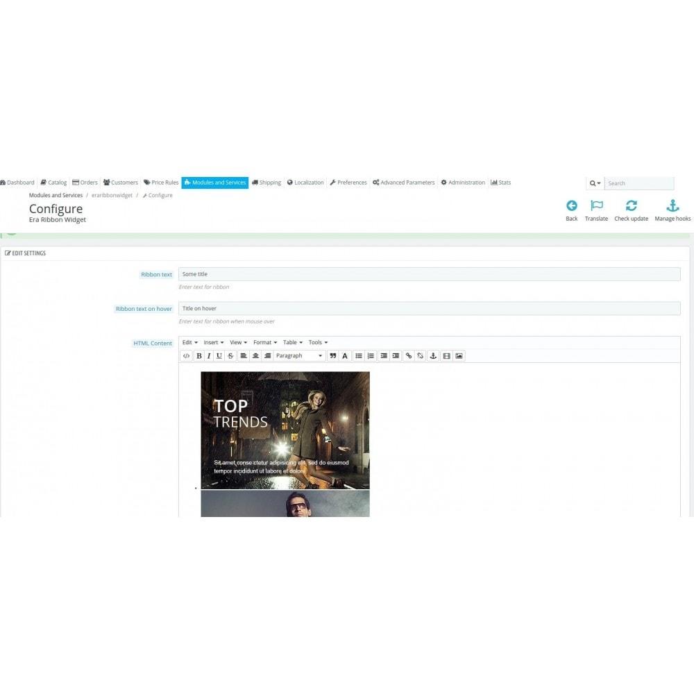 module - Personalisering van pagina's - Era Ribbon Widget - 4