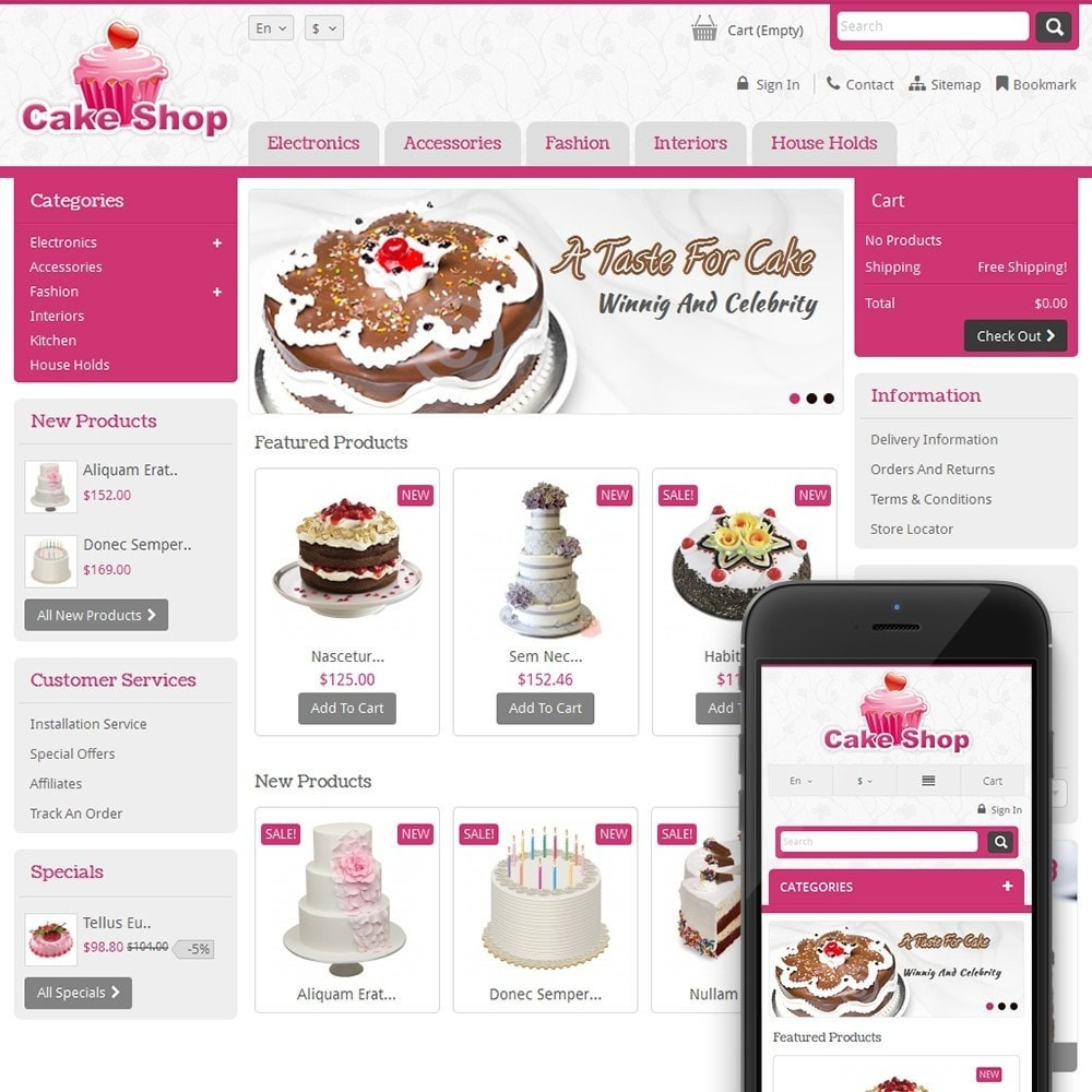theme - Alimentos & Restaurantes - Cake Shop - 1