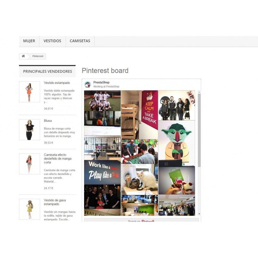 module - Widgets réseaux sociaux - Pinterest Board - 5