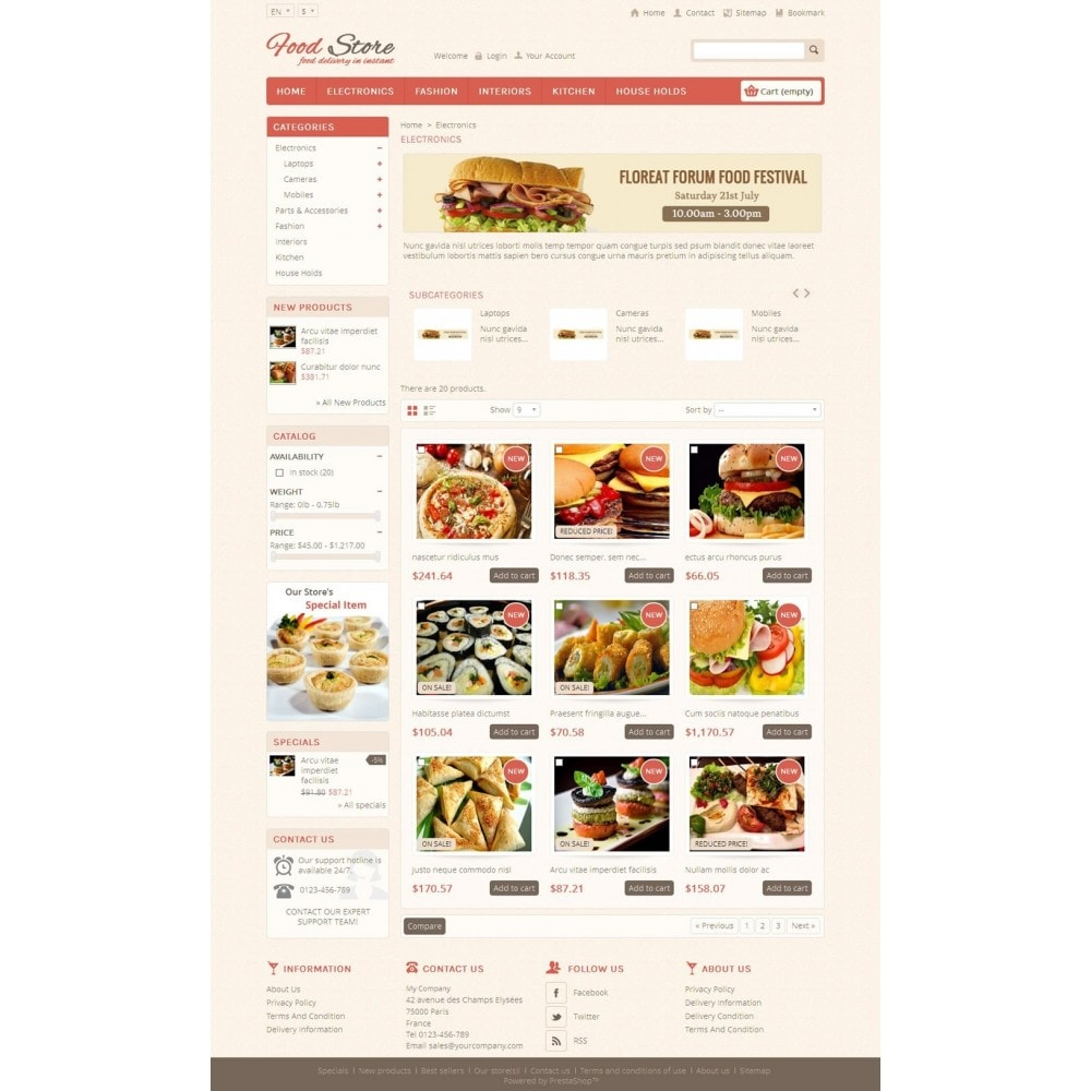 theme - Lebensmittel & Restaurants - Food and Restaurant Store - 3