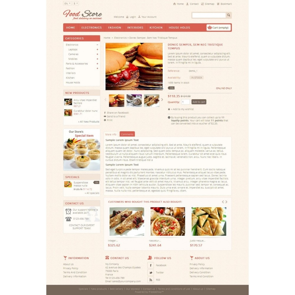 theme - Lebensmittel & Restaurants - Food and Restaurant Store - 4