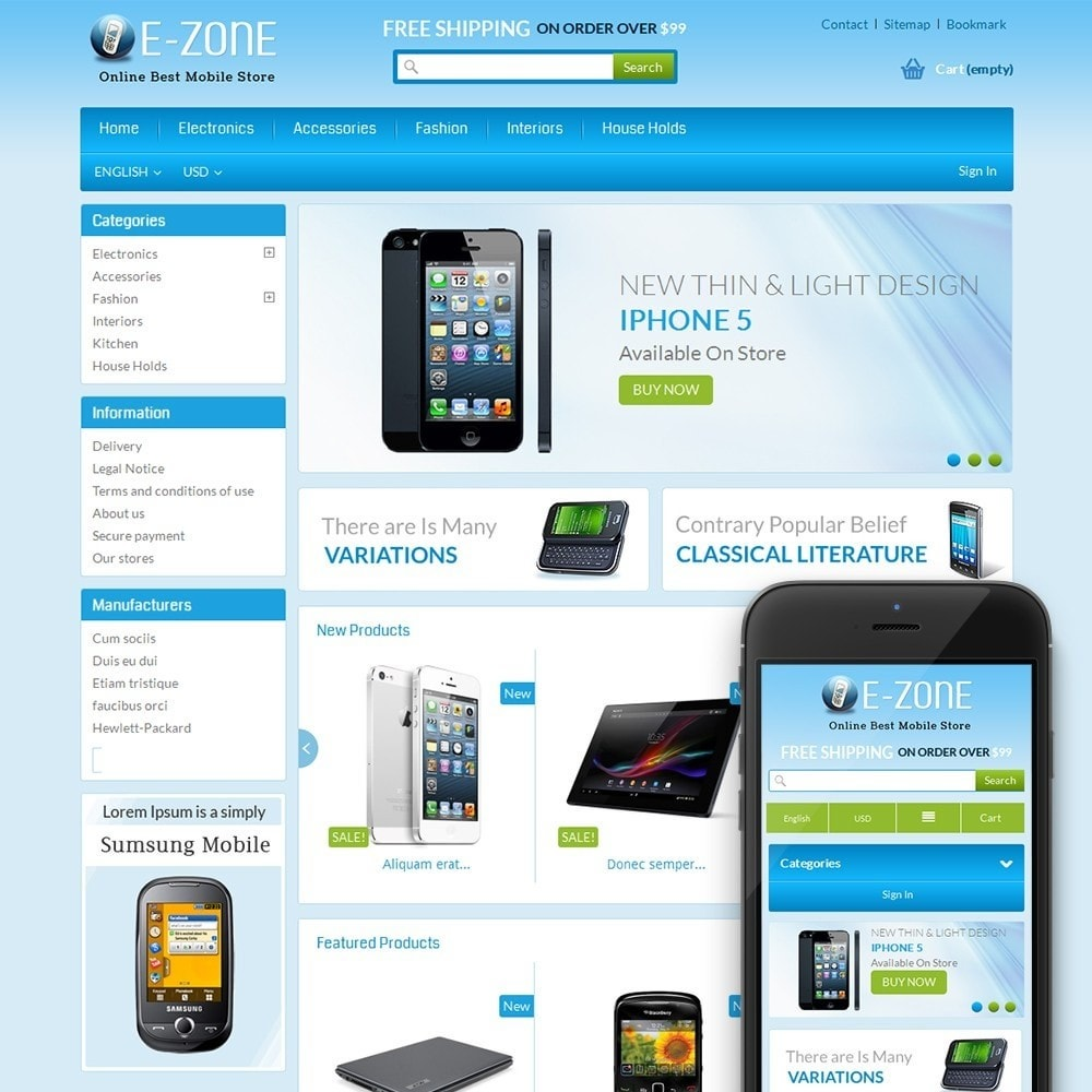 theme - Elektronika & High Tech - E-Zone Store - 1