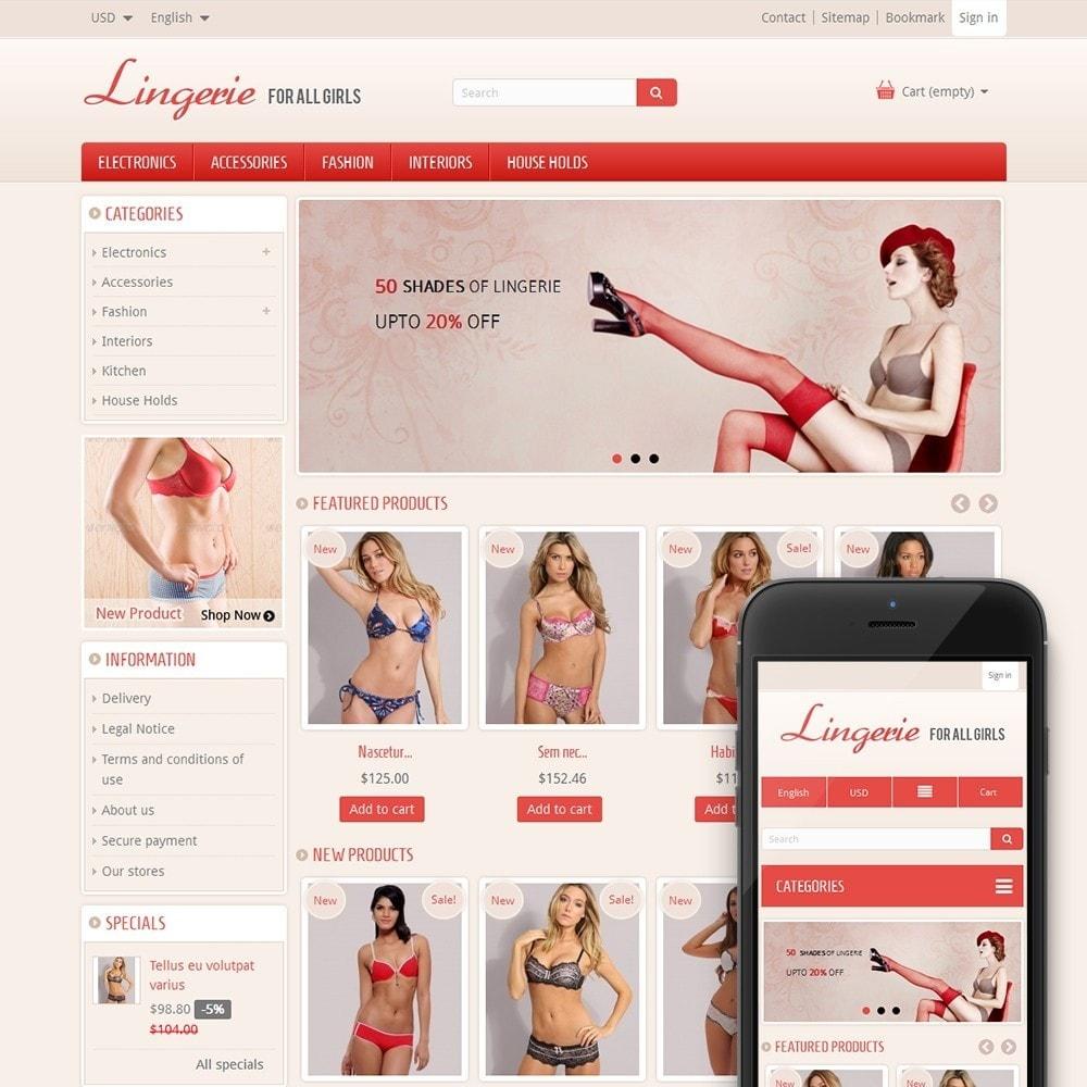 theme - Нижнее белье и товары для взрослых - Lingerie Online Store - 1