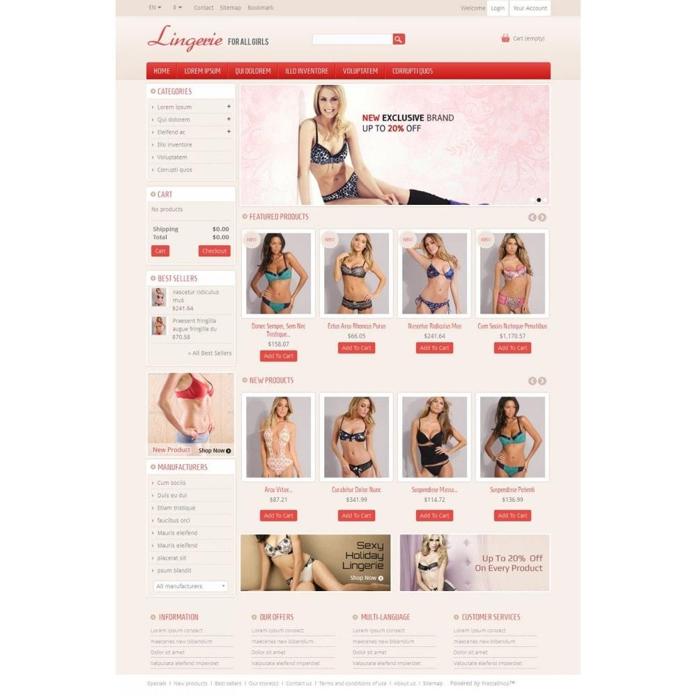 theme - Нижнее белье и товары для взрослых - Lingerie Online Store - 2