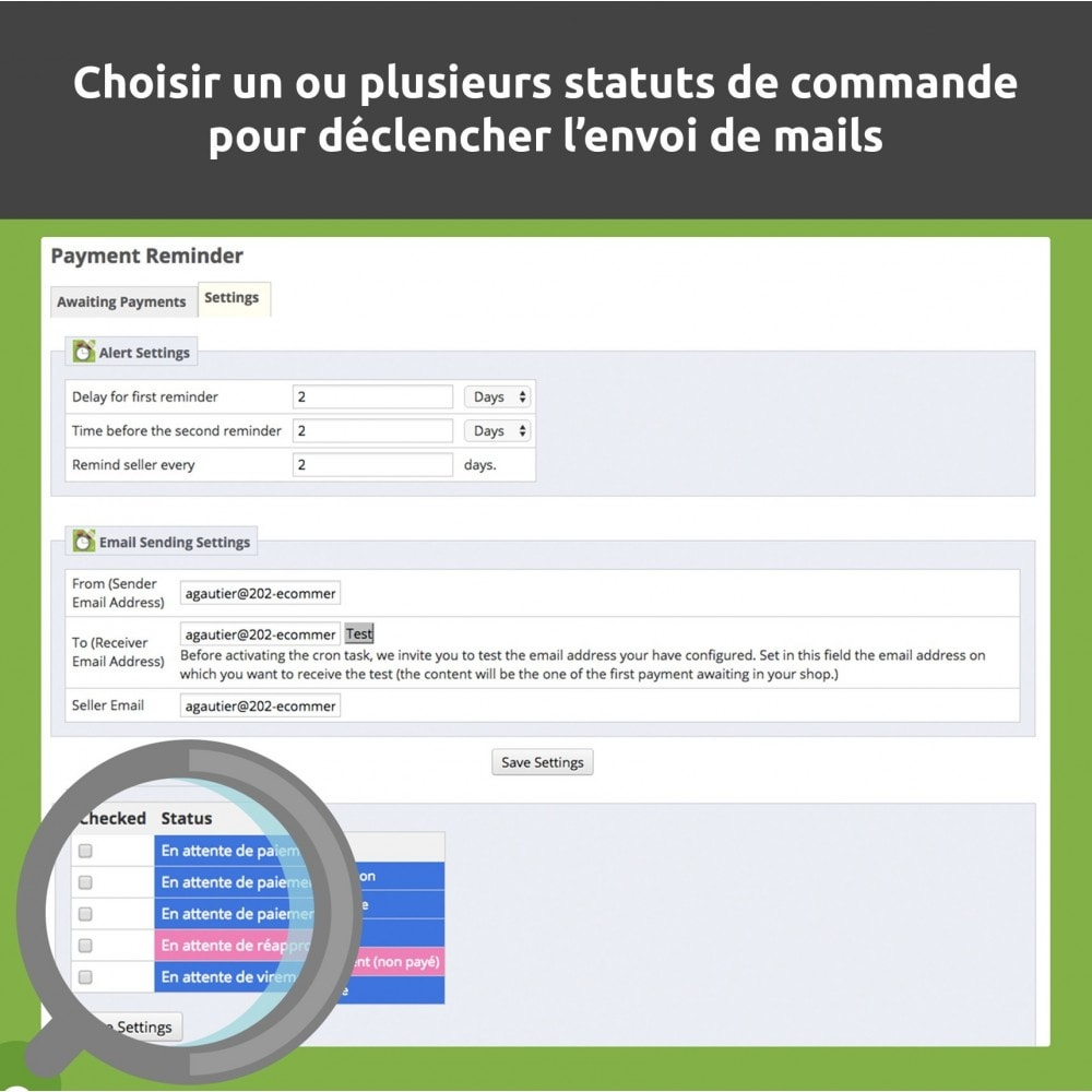 module - E-mails & Notifications - Relance de paiement / payment reminder - 6